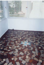 apartment sunroom tile floor